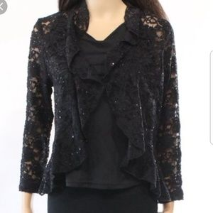 {Connected Apparel} Lace Cardigan